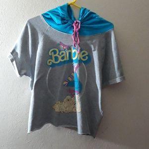 Cut off barbie thin sweatshirt hoodie